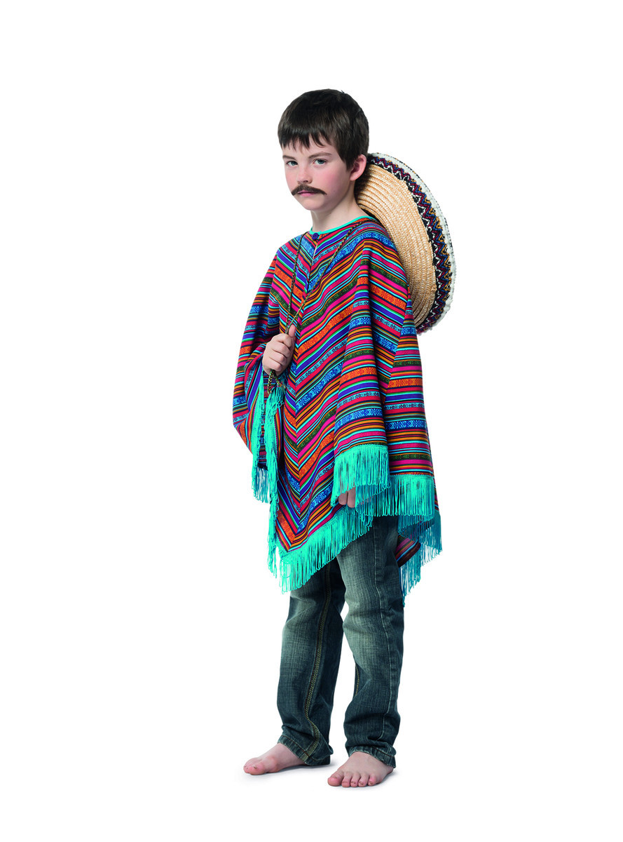 Disfarce Mexicano Poncho Menino  70c96aaabae