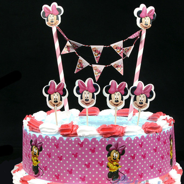 Topper Bolo Aniversario Minnie Festasparty