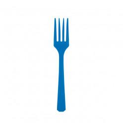10 Garfos Plástico Azuis