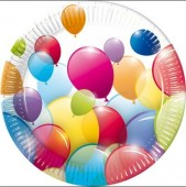 10 Pratos pequenos Balloon Party 20cm