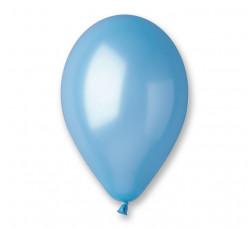 100 Balões Azul Céu Metalizados 10 (26cm)