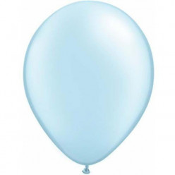 100 Balões Azul Pérola Qualatex 5 (13cm)
