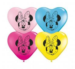 100 Balões Coração Minnie Sortidos 6