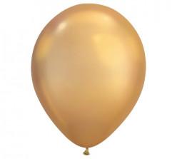 100 Balões Dourado Chrome 7''