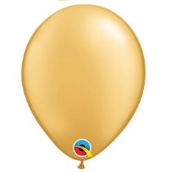 """100 Balões Dourado Qualatex 5"""" (13cm)"""