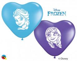 "100 Balões Frozen Coração 6"""