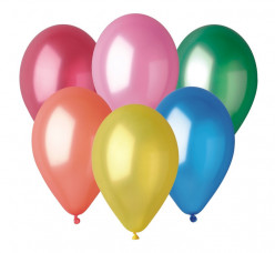 """100 Balões Metalizados Cores Sortidas 12"""" (30cm)"""