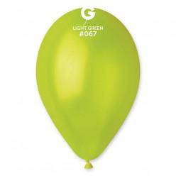 100 Balões Metalizados Verde Claro 11