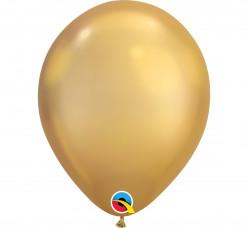 100 Balões Ouro Chrome 11''