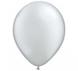 100 Balões Prata Qualatex 5 (13cm)