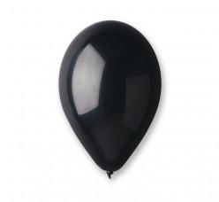 100 Balões Pretos Metalizados 10 (26cm)