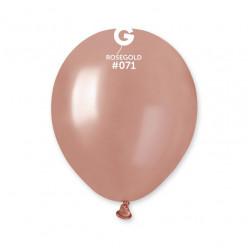 100 Balões Rose Gold Metalizado 5 (13cm)
