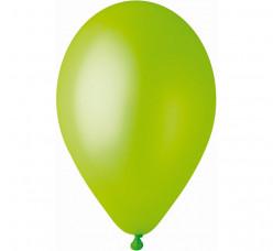 """100 Balões Verdes Pistachio Metalizados 10"""" (26cm)"""