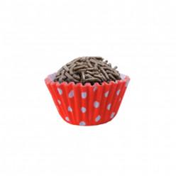 100 Mini Cápsulas Brigadeiro Bolinhas Vermelha