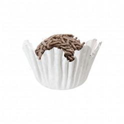 100 Mini Cápsulas Brigadeiro Recortado Branco