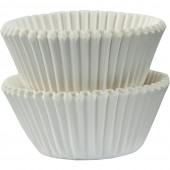 100 Mini Forminhas brancas Cupcake 30mm