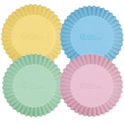 12 Cápsulas Cupcake Silicone Pastel Wilton