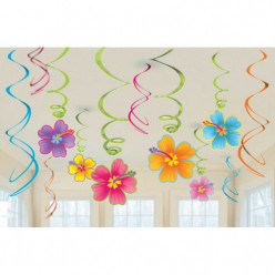 12 Espirais Decorativas Flores