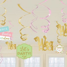 12 Espirais Decorativas – Confetti Fun