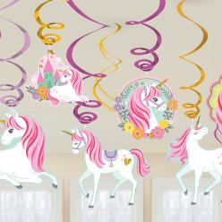 12 Espirais Decorativas Unicórnio