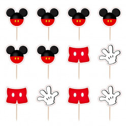 12 Mini Toppers Mickey