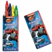 12 Packs 4 Lápis Cera Blaze e as Monster Machines