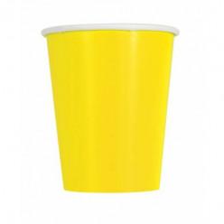 14 Copos Amarelos Neon