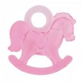 16 Cavalos de baloiço em plástico - rosa
