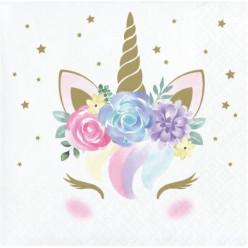 16 Guardanapos Cocktail Baby Unicorn