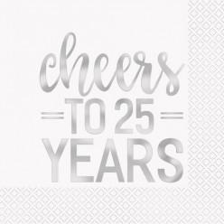 16 Guardanapos de papel 25 anos