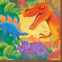 16 Guardanapos Dinossauros Pré Histórico
