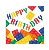 16 Guardanapos Lego Happy Birthday