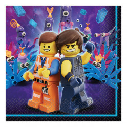 16 Guardanapos Lego Movie 2