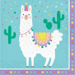16 Guardanapos Llama Party