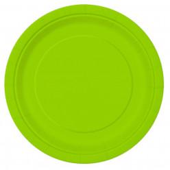 16 Pratos Verde Neon 22cm
