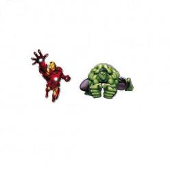 2 Mini Figuras Cartão Avengers