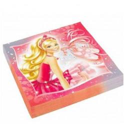 20 Guardanapos Barbie Pink Shoes 33cm