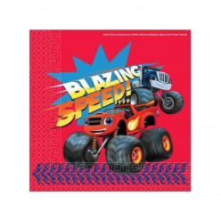 20 Guardanapos Blaze Monster Machines Speed