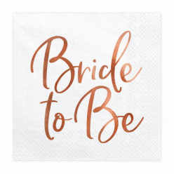 20 Guardanapos Bride to Be Rose Gold