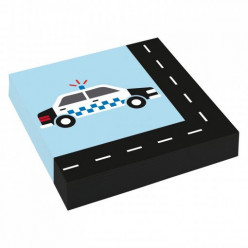 20 Guardanapos Carros On The Road 33cm