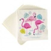 20 guardanapos de papel - Flamingo