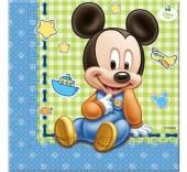 20 Guardanapos festa Mickey Bébé
