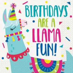 20 Guardanapos Lama Birthday