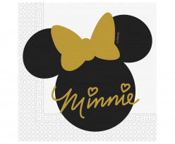 20 Guardanapos Minnie Gold