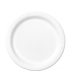 20 Pratos Brancos redondos 17cm
