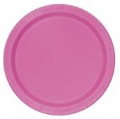 20 Pratos Rosa Fuscia 17cm