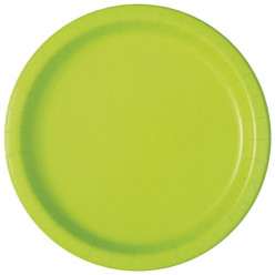 20 Pratos Verdes Neon 17 cm