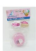 24 formas cupcake + marcadores festa