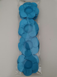 24 Forminhas Papel Flores Azul
