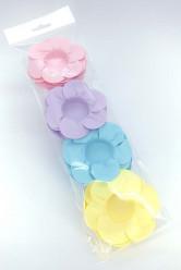 24 Forminhas Papel Flores Pastel